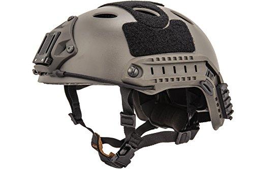 "Lancer Tactical Airsoft Use ""PJ"" Type Helmet w/ NVG Mount - GRAY - L/XL"