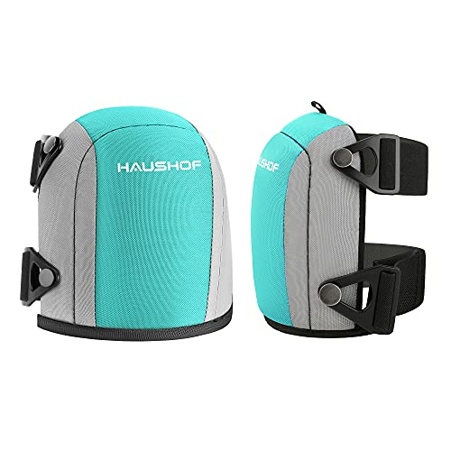 HAUSHOF Flooring & Roofing Work Knee Pads, Professional Kneepads with Foam Padding, Heavy Duty Double Straps and Adjustable Easy-Fix Clips, Comfortable Kneeling Cushion for Construction Work, Home Cleaning, Gardening