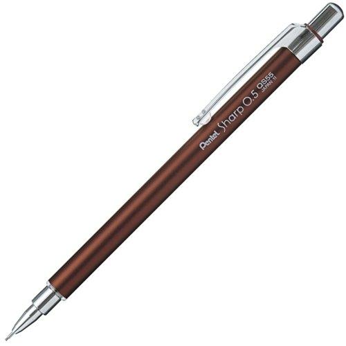 Pentel Pocket Size 0.5mm Mechanical Pencil, Bitter Brown (QS55-E)