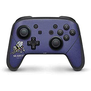 Skinit Seabees Can Do Nintendo Switch Pro Controller Skin - Officially Licensed US Navy Gaming Decal - Ultra Thin, Lightweight Vinyl Decal Protection by Skinit
