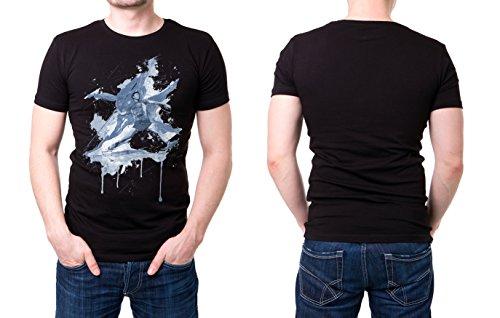 Speerweitwurf_I schwarzes modernes Herren T-Shirt mit stylischen Aufdruck