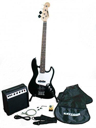 Keytone Jazz E- Bass Set de Luxe Negro y Amplificador y ...
