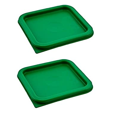 Cambro (SFC2452) Covers, Set of 2 (For 2 & 4-Quart Containers, Kelly Green, Polyethylene, NSF)