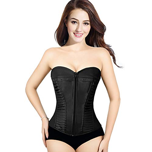 3325b43e2 Corsets for Women Bustier Top Like Underbust Waist Trainer Leather Design  for Use Fashion Vintage Cincher