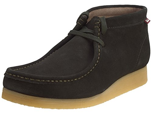 CLARKS - Mens Stinson Mid Chukka Boot - Loden Olive (Mock Lace Up Boots)