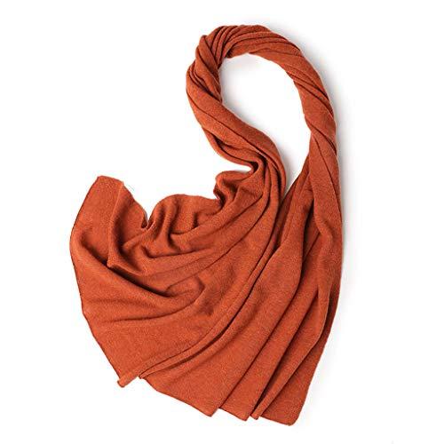 Use Lange Schal Stricken Orange Einfarbig Elegante Farbe Schal Dual ...
