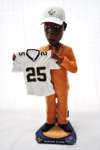 (New Orleans Saints rare Official NFl #25 Reggie Bush (USC) Draft Day Bobble)