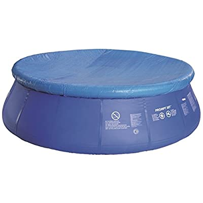 12.5' Durable Apertured Round Prompt Set Swimming Pool Cover with Rope Ties: Toys & Games