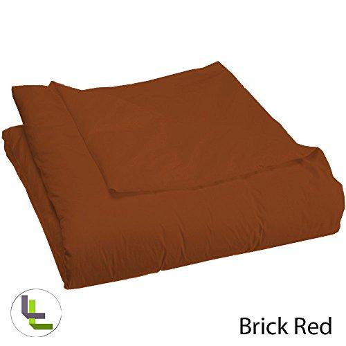 BRIGHTLINEN 1PCs Duvet Cover (Brick Red Solid