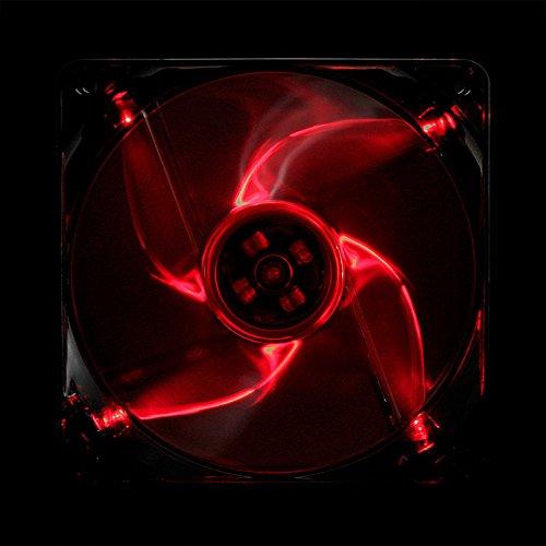 Ventilateurs refoidisseurs et radiateurs Cooltek Silent Fan 120 Red LED Boitier PC Refroidisseur Boitier PC, Refroidisseur, 12 cm, 1200 TR//Min, 108,2 m/³//h, 80000 h