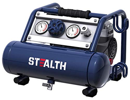 STEALTH Air Compressor, Ultra Quiet,Powerful,Portable,Oil-Free 1/2HP 1 Gallon Air Compressor, for Home, Garage, Workshop, Blue-SAUQ-1105