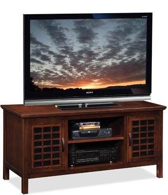 - Riley Holliday by Leick Chocolate and Black Glass 50 inch TV Console - 81170
