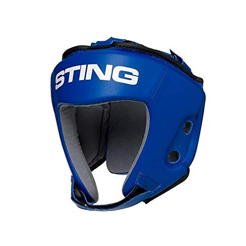 STING AIBA Competition MMA/Boxing Headguard - Blue, L