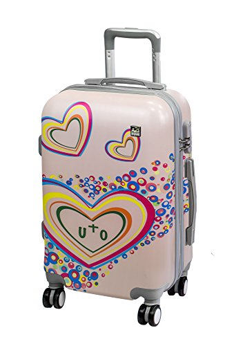 A2S Wheels Lightweight with Cabin on Luggage Bag Suitcase 55x35x22cm Carry Durable Watercolor Airplanes Spinner Hard amp; Bear Polar Shell 8 wPwxqd8
