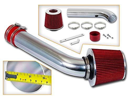 - Rtunes Racing Short Ram Air Intake Kit + Filter Combo RED For 98-02 Chevy Cavalier / 98-02 Pontiac Sunfire 2.2L L4 OHV