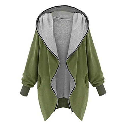 DaySeventh Womens Zipper Hoodie Jacket Parka Trench Coat Windbreaker (M, Army Green)