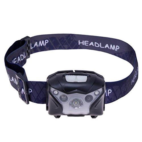 BIN BON - 3LED USB Rechargeable Sensor Headlamp 160LM IPX4 Waterproof Headlight Lamp
