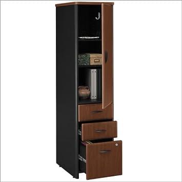 Bush Furniture Series A Vertical File Storage Cabinet In Hansen Cherry