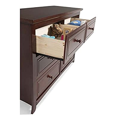 Graco Kendall 6 Drawer Double Dresser in Cherry