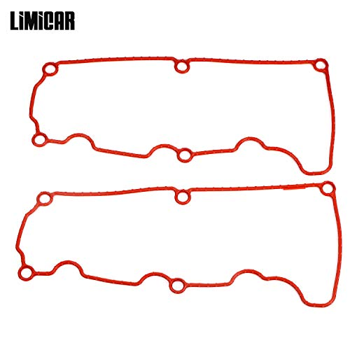 LIMICAR Valve Cover Gasket Set VS50529R Compatible with 2001-2011 Ford Ranger 2000-2010 Ford Explorer 2001-2010 Mazda B4000 Mercury Mountaineer ()
