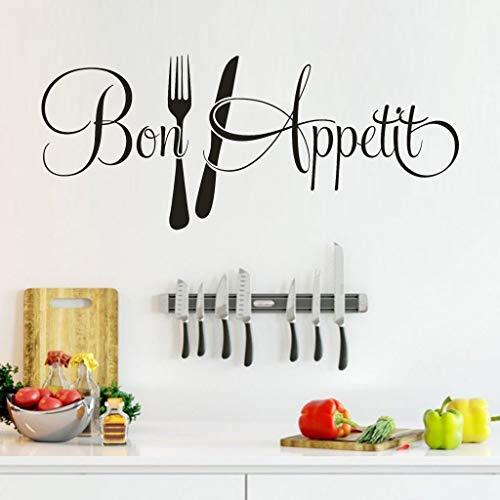 (Bon Appetit Wall Decal Dinning Hall Wall Sticker Kitchen Decals Mural Decor Art )