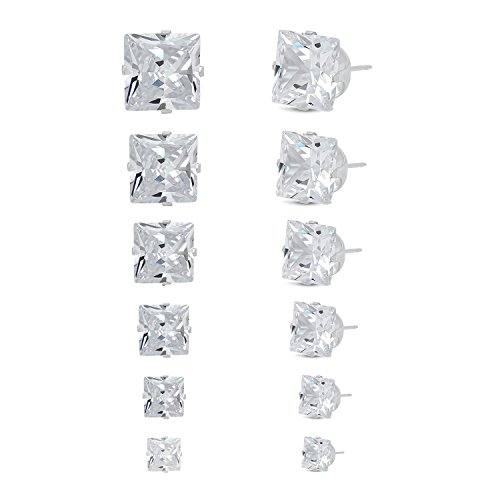 Jewelry Women's Stainless Steel Square C - Diamond Cut Snowflake Pendant Shopping Results