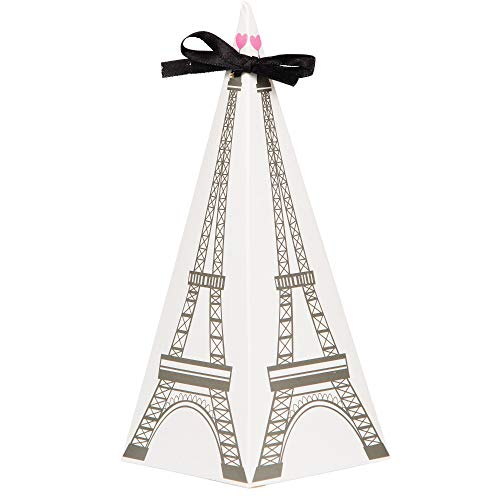Party in Paris Eiffel Tower Shaped Favor Boxes - Pack of 16 ()