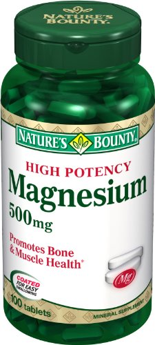 Bounty высокой потенции Магний 500 мг природы, таблетки по 100 (в упаковке 6)