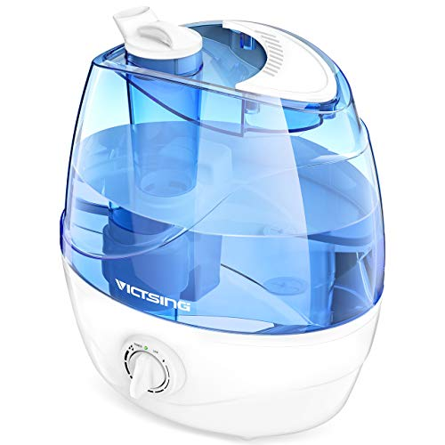 - VicTsing Cool Mist Humidifier, Ultrasonic Humidifiers for Bedroom Baby, Premium Humidifying Unit with Whisper-Quiet Operation, Auto Shut-Off, Anti-Slip Handle, 12-24 Hours Working Time (BPA-Free)