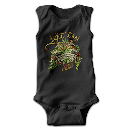 [BLUESPACE I Got Chai High Newborn Baby Climb Clothes 24 Months Black] (Out Of Your League Costumes)