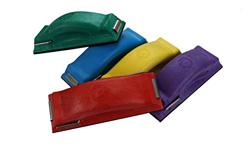 Time Shaver Tools Preppin' Weapon Ergonomic Sanding Block, for Wet and Dry Sanding! Easy to Load, Plain Paper Sander! Complete Set of 5 Color Coded Hand Sanders in Yellow, Blue, Green, Purple and Red. ()