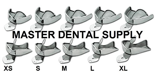 MAGNA Dental Impression Trays SOLID STAINLESS STEEL METAL 10 Pcs XS S M L XL SIZES Autoclavable. Ships from USA.