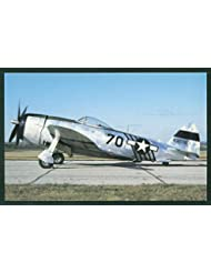 Republic P-47 Thunderbolt Combat Fighter WWII Aircraft USAF Airplane Postcard