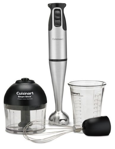 Cuisinart HB-154PC Smart Stick Hand Blender With Whisk & Chopper Attachments - Club Model