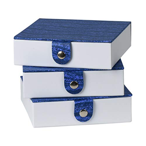 Hammont Blue Gift Box with Snap Closure (3 Pack) - 5.9