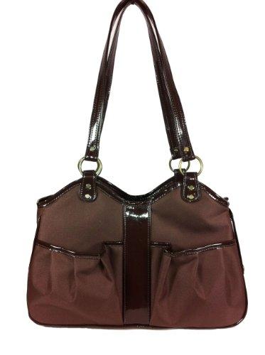 Petote Metro Classic Pet Carrier Bag, Small, Chocolate