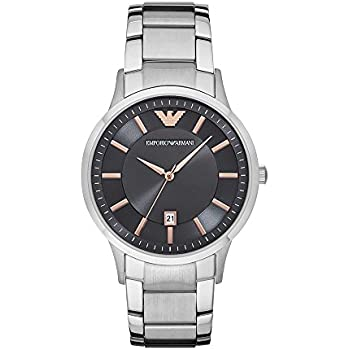 Emporio Armani Mens AR2514 Dress Silver Quartz Watch
