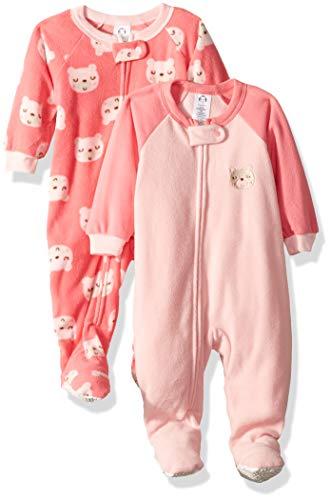 -Pack Blanket Sleeper, Pink Bear, 12 Months ()