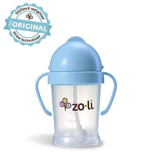 (ZoLi BOT Straw Sippy Cup, Blue, 6 oz)