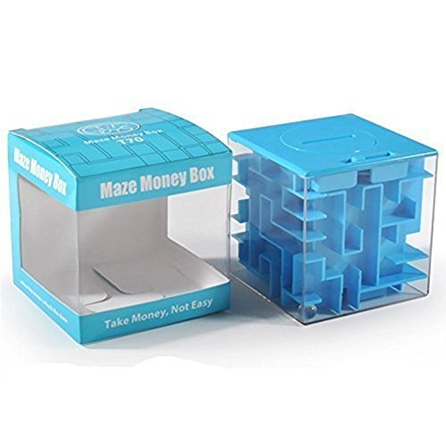 SainSmart Jr.?Money Maze Puzzle Box For Kids and Adults, Amaze CB-23 Cube Maze Money - Square Best Face For Frame Shape