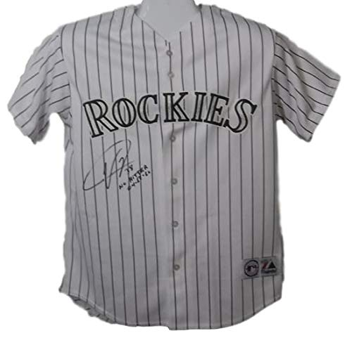 87fe2e349 Ubaldo Jimenez Autographed Signed Colorado Rockies Majestic Jersey No  Hitter - Certified Authentic at Amazon s Sports Collectibles Store