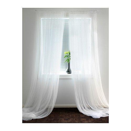 Ikea Lill 2 Voilages 300x280cm Blanc Coupable Amazon Fr