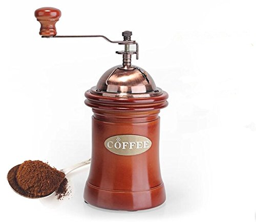 defancy-classic-canister-ceramic-burr-coffee-mill-manual-grinder-with-dust-proof-cover-wine-red
