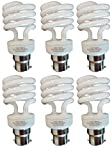 BC B22 CFL Full Spiral - Energy Saving Light Bulbs - 14W = 70 Watt - (Pack of 6) - 2700k Warm White Light Bulbs Large Bayonet [Energy Class A]