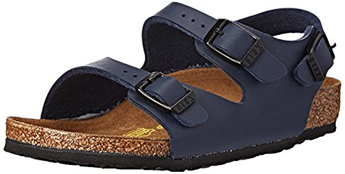 Price comparison product image Birkenstock Unisex Roma Backstrap Sandal, Blue, 32 EU/1 M US Big Kid