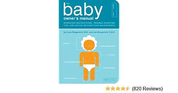 The Baby Owners Manual Operating Instructions Trouble Shooting