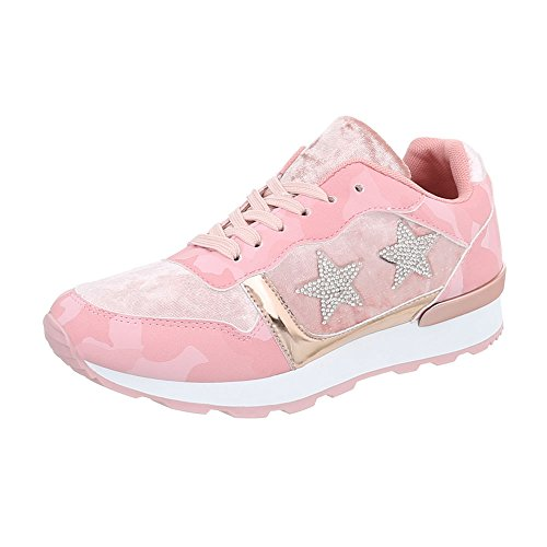 Rose Chaussures G Or Mode Baskets Plat design 103 Espadrilles Sneakers Ital Low Femme z5waqx66n1