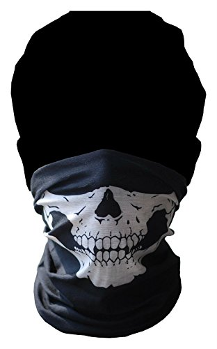Skeleton Ghost Skull Face Mask Biker Balaclava Call of Duty COD Costume Game ()