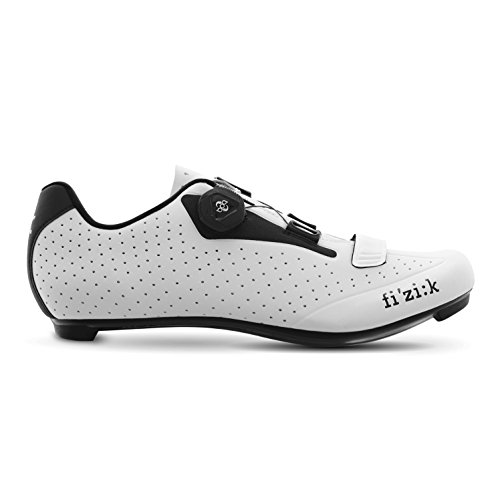 ダム堤防セラーFizik(フィジーク) R5B Uomo Road Cycling Shoes - White/Black [Size 40~45EUR] (42 EUR [27cm]) [並行輸入品]