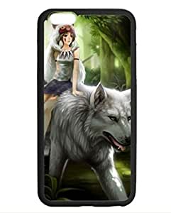 Top Cases Tribe Girl Riding Big White Walf Customize Unique Rubber Silicone iPhone 6 5.5 by mcsharks